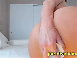 provocative platinum-blonde milf flash Off ginormous bumpers And liking Her fake penis