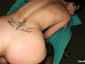 black-haired sweetheart Dava gets drilled pov style