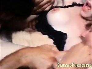 wondrous nymph enjoys buttfuck fuck-a-thon in this antique pornography
