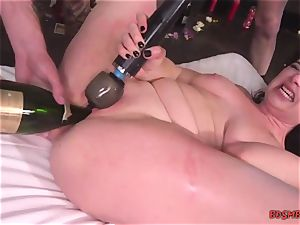 bootylicious whore gets group-fucked and plays with fucktoys