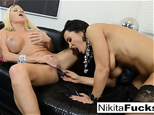 molten Russian Nikita Von James smashes porno veteran Lisa Ann