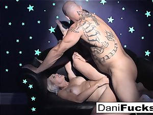 Dani has a super-hot ebony light three-way