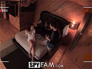 SPYFAM nosey Step sista salivates over pecker images