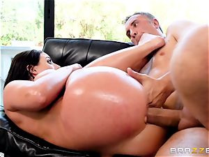 ball sack deep in the caboose of insatiable Angela milky