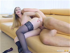 cock slurping Stella Cox anal bashed pouch deep