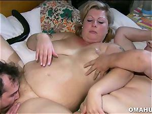 humungous granny Having lesbian romp