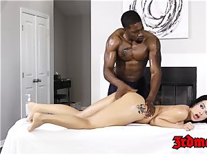 Katrina Jade nailed by bbc after rubdown