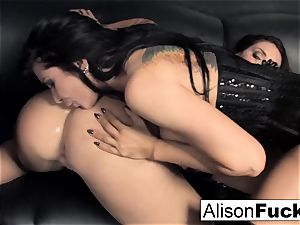 3-way hardcore feisty hump with Alison