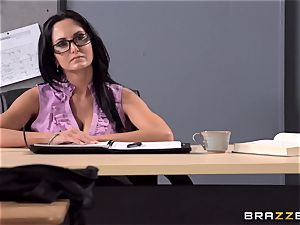 huge-boobed lecturer Ava Addams is plumbed by her college girl