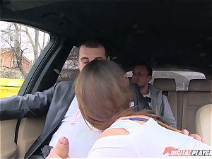 spear slurping Barbara Bieber in the car