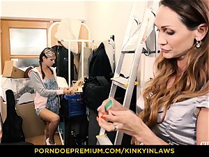 horny INLAWS - Gina Gerson smashed by milf with hitachi