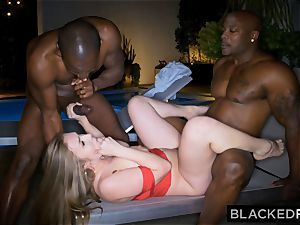 BLACKEDRAW huge orb white woman gets double teamed by BBCs